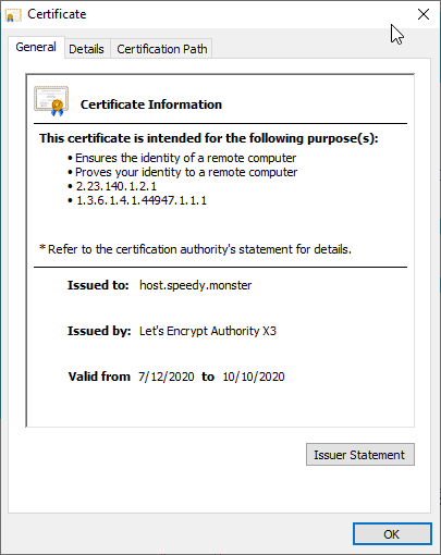 valid ssl for wordops dashboard